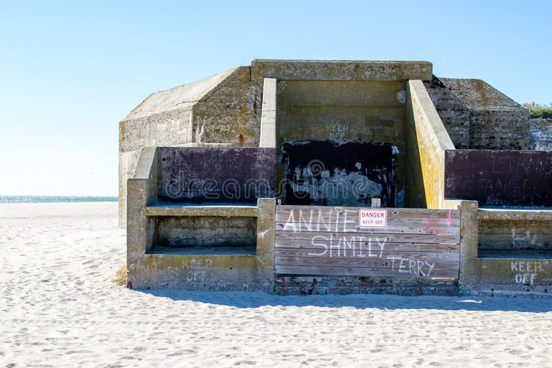 Abandoned military bunker on Cape May Point royalty free stock photos