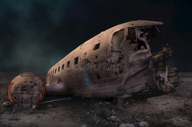 Solheimasandur Plane Wreck - Iceland stock images