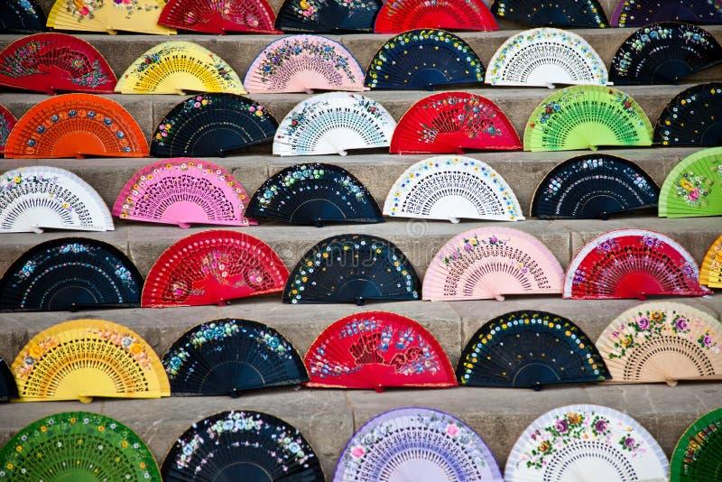 Abanicos fabriqués à la main photographie stock libre de droits
