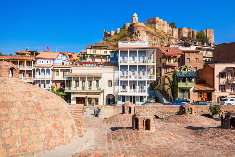 Abanotubani in Tbilisi royalty-vrije stock foto