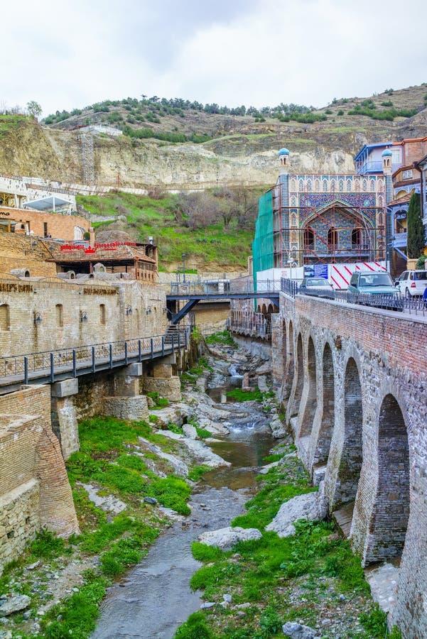 Abanotubani w Tbilisi obraz royalty free