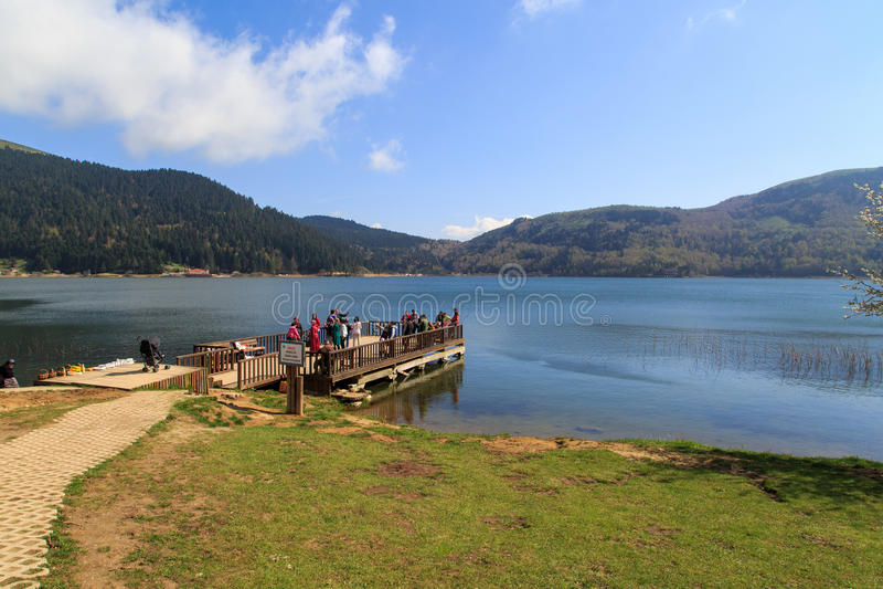 Abant湖视图 库存图片