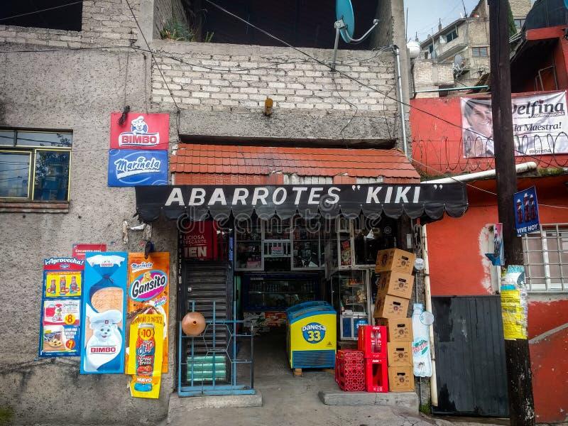 Abarrotes Kiki i Naucalpan, Mexico royaltyfria foton