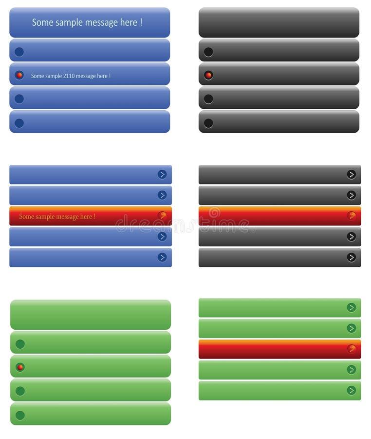 Abas do Web ilustração stock