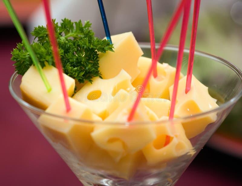 Abastecimento - aperitivo do queijo imagem de stock royalty free