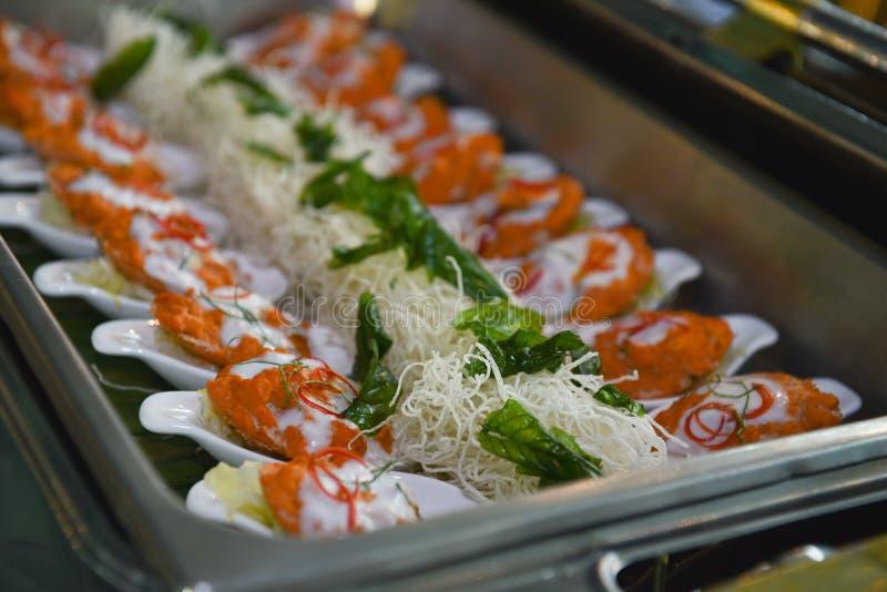 Abastecimiento tailandés de la comida fotografía de archivo libre de regalías