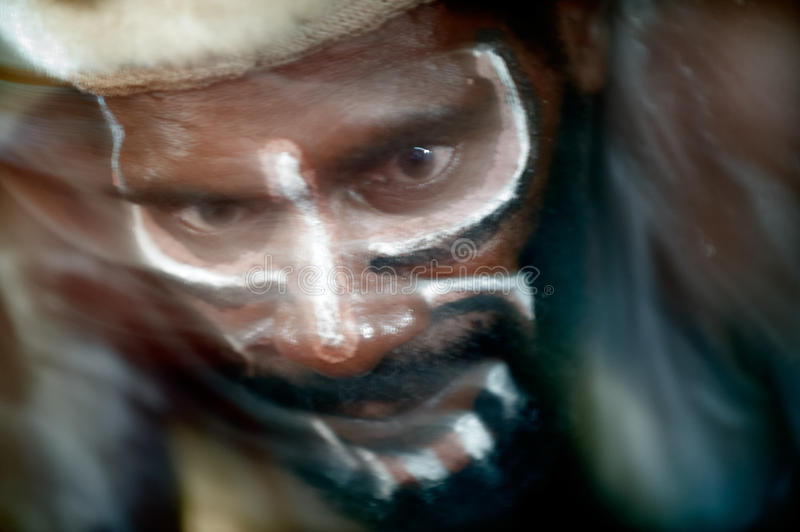 Abastract Portrait Of The Asmat Warrior Editorial Stock Photo
