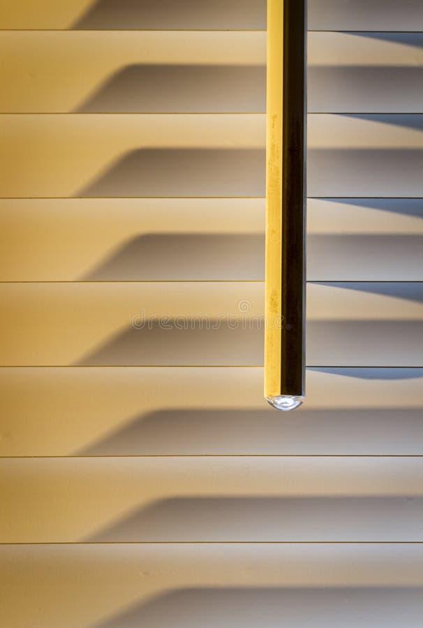 Abat-jour horizontaux beiges photographie stock
