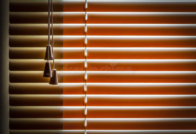 Abat-jour horizontaux oranges image stock