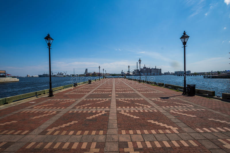 Abat le bord de mer de canton de point à Baltimore, le Maryland photo stock