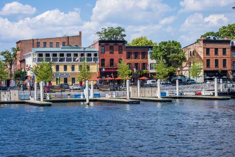 Abat le bord de mer de canton de point à Baltimore, le Maryland images libres de droits