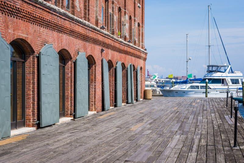 Abat le bord de mer de canton de point à Baltimore, le Maryland images stock