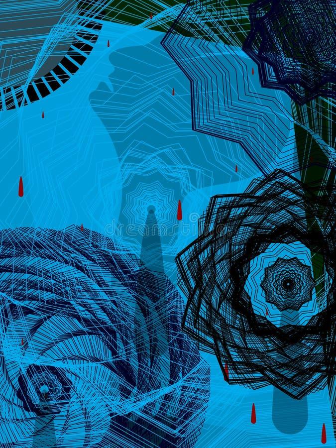 Abatrct-Schatten nach innen vektor abbildung