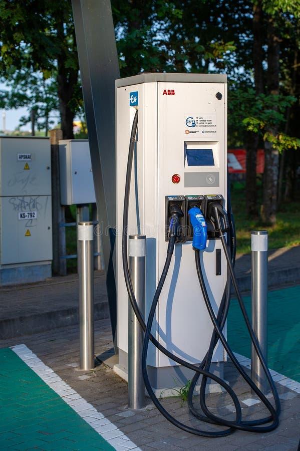 ABB Παροχή ισχύος για την τροφοδότηση ηλεκτρικών αυτοκινήτων στοκ εικόνες