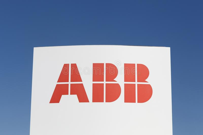 ABB logo on a panel royalty free stock images