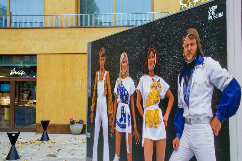 ABBA the museum, Stockholm. The museum created for the music band ABBA in Stockholm Sweden. The museum only accepts credit cards and no cash claiming that this royalty free stock images