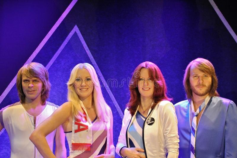 At ABBA the Museum in Stockholm royalty free stock photography