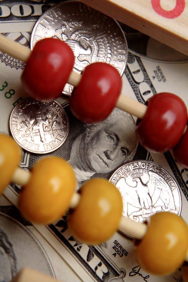 Abbaco & valuta degli Stati Uniti fotografia stock libera da diritti