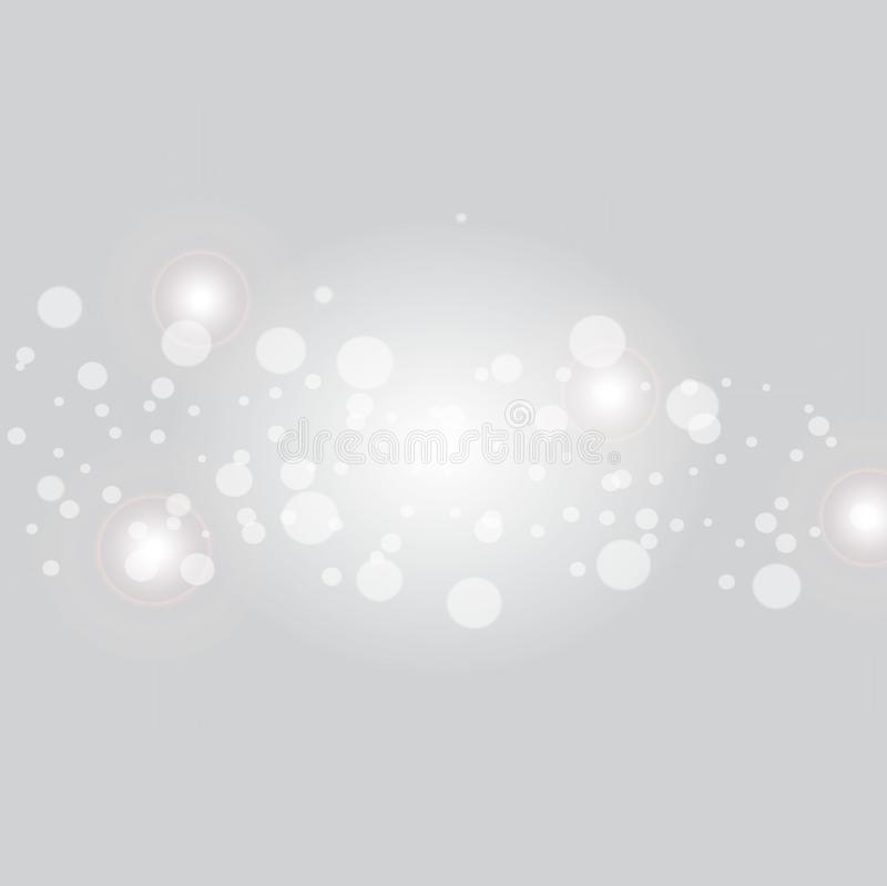 Abbagliamento leggero realistico, punto culminante Raccolta di bei chiarori luminosi della lente Effetti della luce del flash Ill illustrazione di stock