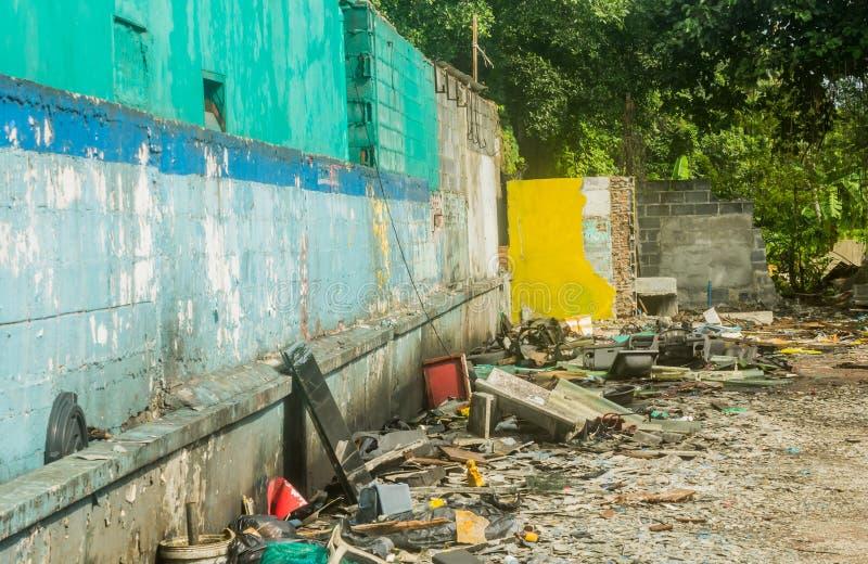 Abbandonato demolisca il cantiere fotografia stock libera da diritti