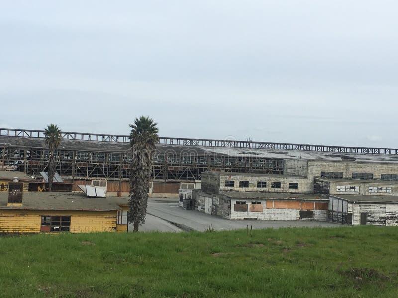 Abbandonato finale rimane di San Francisco Navy Ship Yard, 4 fotografie stock