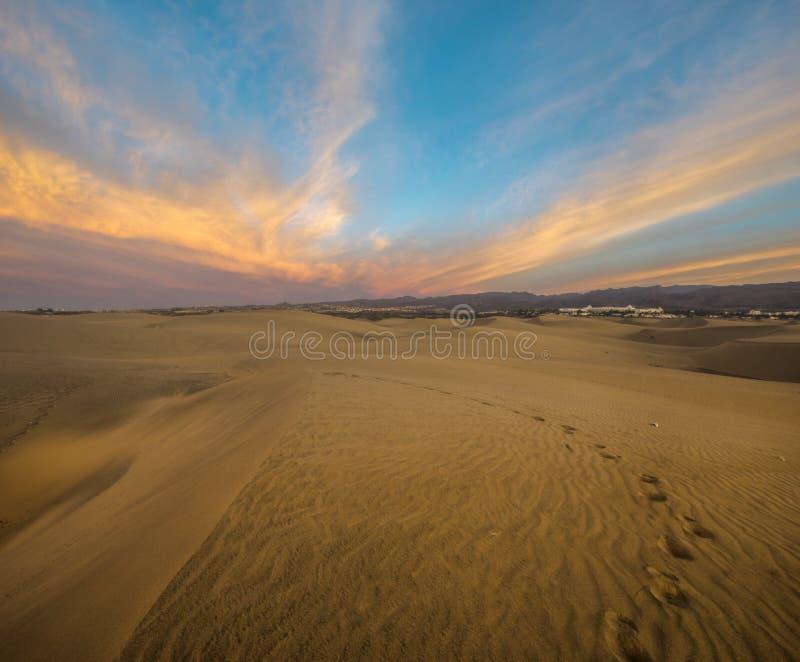 Abbandoni in Gran Canaria, dunas de maspalomas fotografia stock