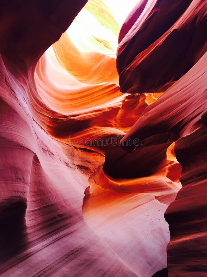 Abbassi il canyon Arizona dell'antilope immagini stock