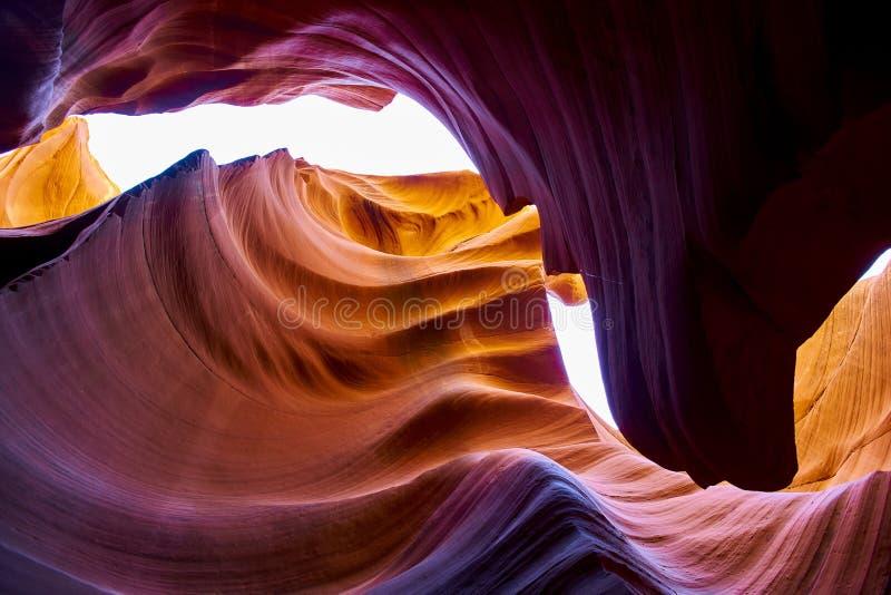Abbassi il canyon dell'antilope immagini stock