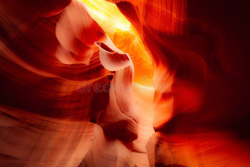 Abbassi il canyon dell'antilope, Arizona U.S.A. immagine stock