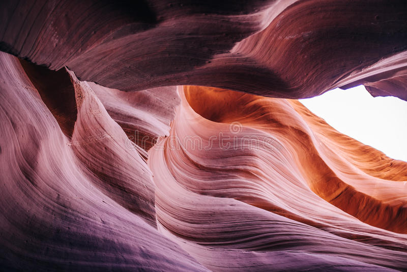 Abbassi il canyon dell'antilope, la pagina, Arizona fotografie stock