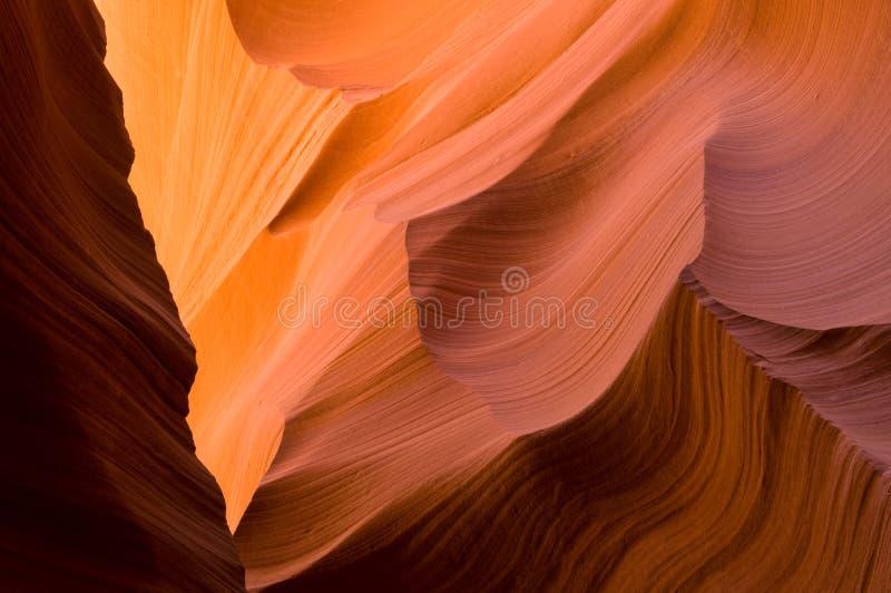Abbassi il canyon della scanalatura dell'antilope fotografia stock libera da diritti