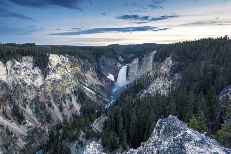 Abbassi la caduta ed il fiume osservati dall'artista Point, Grand Canyon a Y fotografia stock libera da diritti