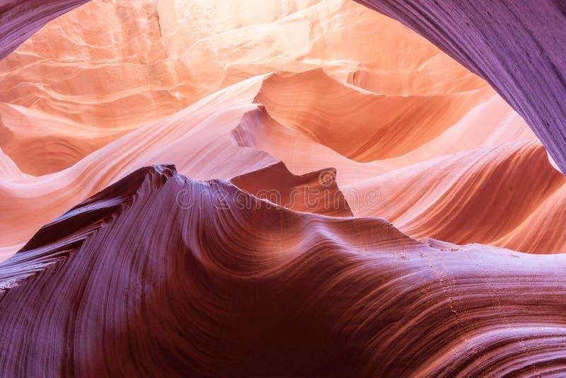 Abbassi la pagina Arizona U.S.A. del canyon dell'antilope immagini stock