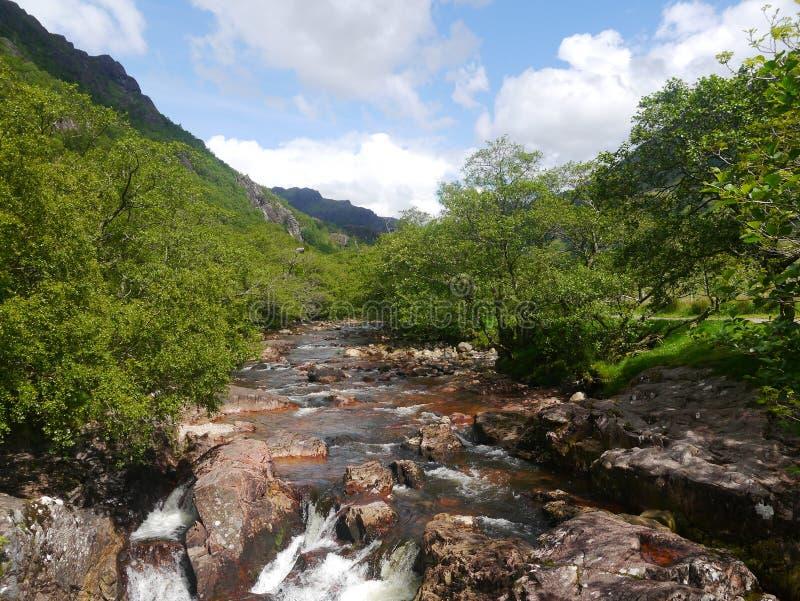 Abbassi le cadute Glen Nevis Scotland fotografie stock