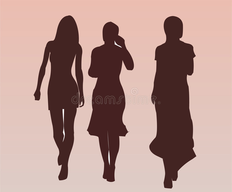 Abbastanza Nizza camminare delle ragazze royalty illustrazione gratis