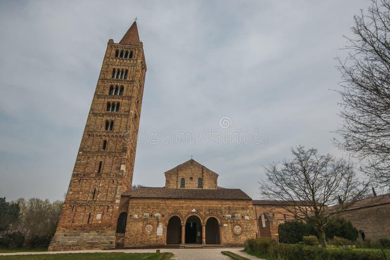 Abbaye bénédictine du Pomposa dans Emilia Romagna images libres de droits