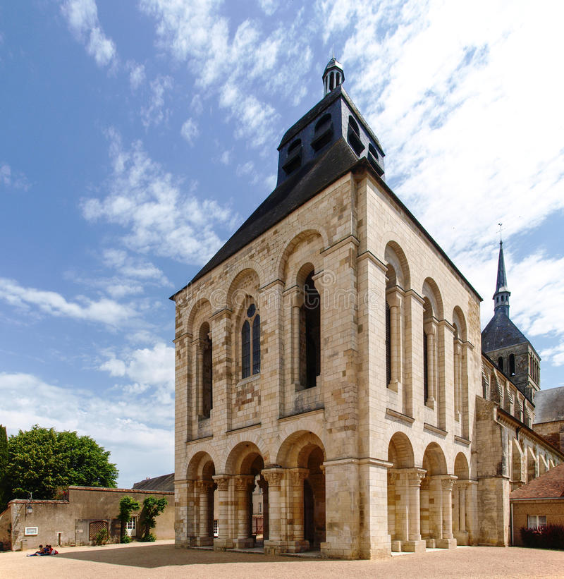 Abbaye de Свят-Benoît-sur-Луара стоковые фото