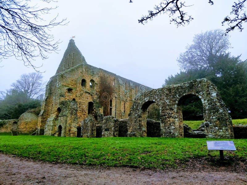 Abbaye de bataille image libre de droits