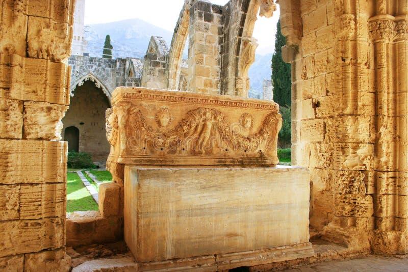 Abbaye de Bellapais images libres de droits