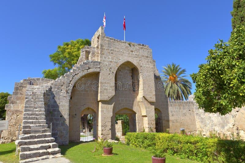 Abbaye de Bellapais dans Kyrenia, Chypre. photos libres de droits