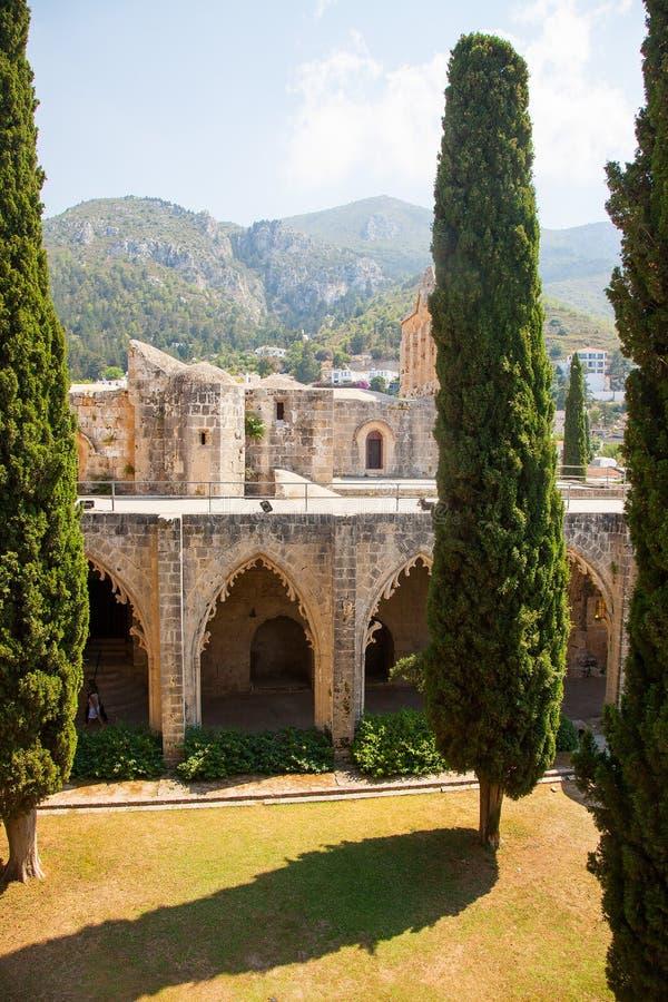 Abbaye de Bellapais en Chypre du nord, Kyrenia photographie stock libre de droits