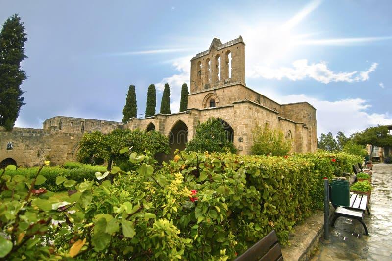 Abbaye de Bellapais en Chypre occupée du nord image libre de droits
