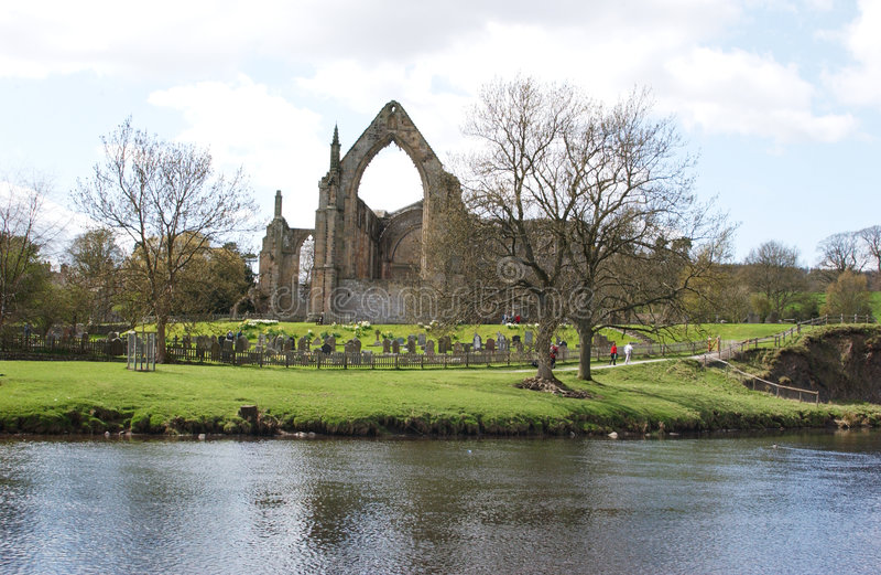 Abbaye de Bolton photo libre de droits