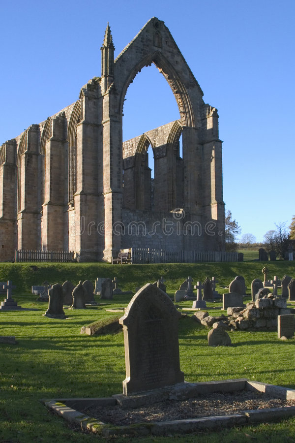 Abbaye de Bolton, vallées de Yorkshire, Angleterre image libre de droits