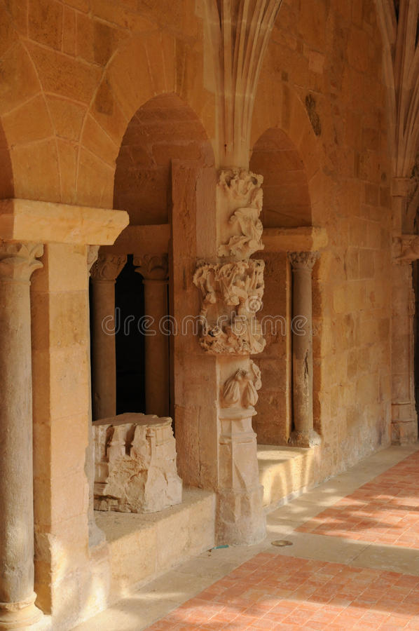 Abbaye de Cadouin dans Perigord photo stock