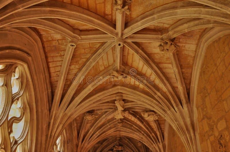 Abbaye de Cadouin dans Perigord photo libre de droits