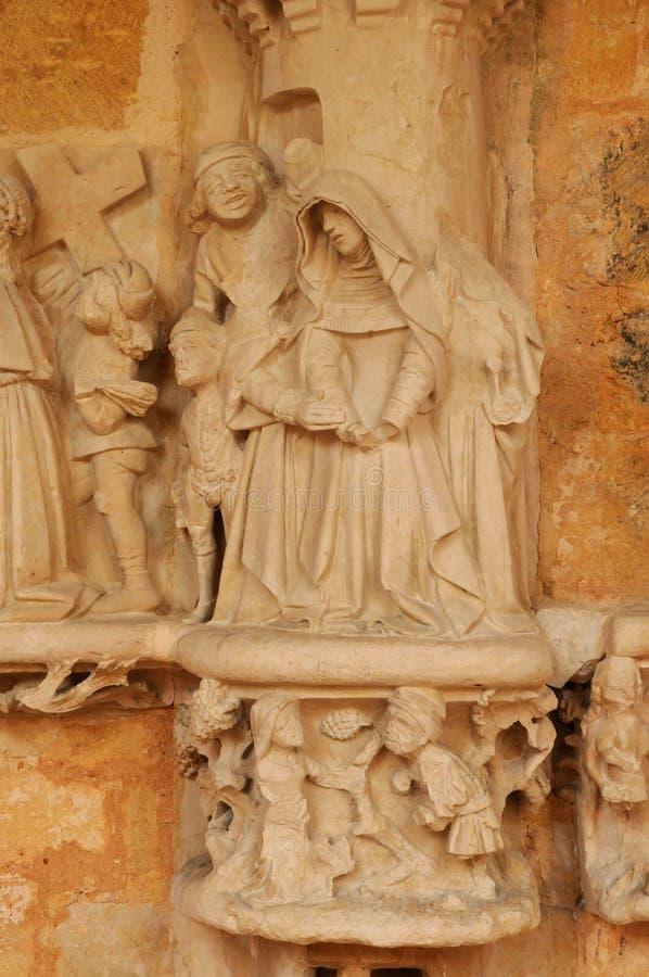 Abbaye de Cadouin dans Perigord image libre de droits