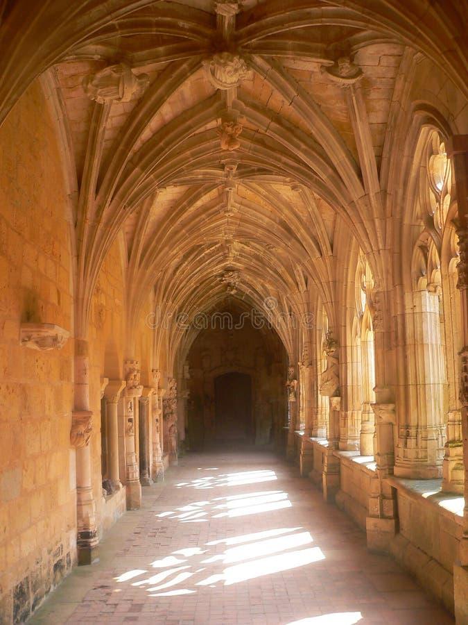 Abbaye de Cadouin, Dordogne (França) foto de stock