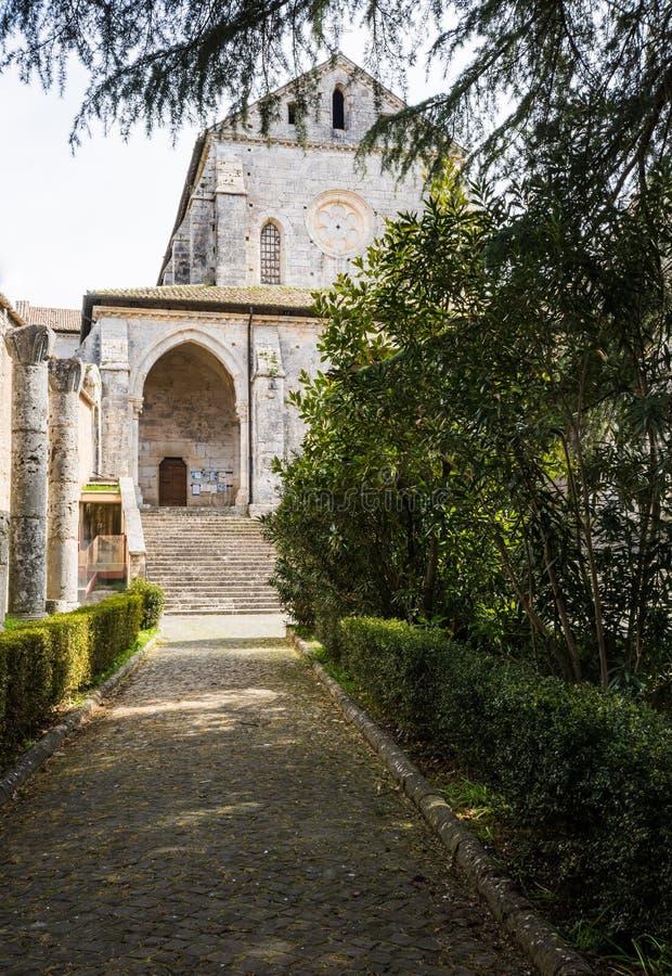 Abbaye de Casamari dans Ciociaria, Frosinone, Italie photos stock