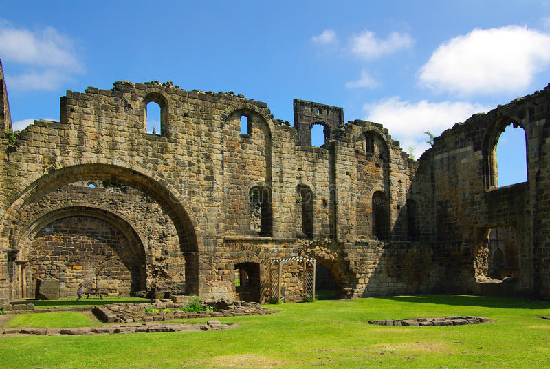 Abbaye de Kirkstall, Leeds, Grande-Bretagne photo libre de droits